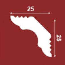 ПЛИНТУС ПОТОЛОЧНЫЙ Е25/25 25х25мм, 2 П.М.